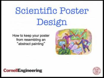 front slide of scientific poster presentation