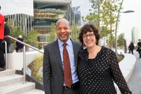 Dean Lance Collins and President Martha Pollack